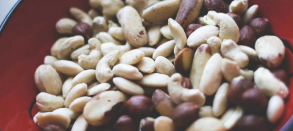 raw nuts in bowl