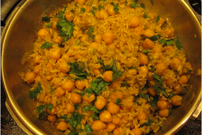Pressure Cooker Curried Rice and Beans