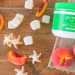 real gelatin peach gummies